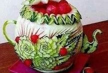 Art food / Esculturas em frutas e legumes