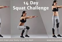 14 Day Squat Challenge / Are you tired of putting other things first? Are you busy? Overwhelmed by the thought of a bustling gym, or perhaps it's a matter of willpower, motivation or simply just prioritising 'you'…  Well, I have just the thing to get your bootie into shape. Literally!  That's right! Just join me for for my FREE 14 Day Squat Challenge! We will lift, tone and shape our legs & bottoms like never before.