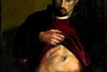 Male nude drawings & paintings // Desenhos e pinturas de nu masculino