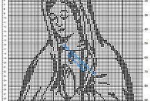 Virgin Mary free crochet filet patterns / Virgin Mary free crochet filet patterns