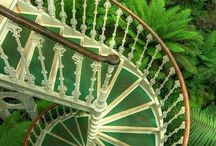 Spiral stairs and Entrances