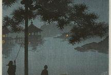 Japanese Woodcut (hand-coloured prints)