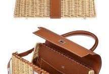 kabelka ze slámy