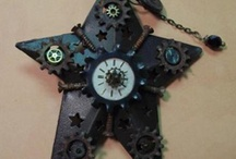 Steampunk ornaments / the Albuquerque Steampunk Societies favorite places. Find us on Facebook and at http://www.meetup.com/ABQ-Steampunk-Society/ and our forum http://abqsteampunksociety.boards.net/ Also on Tumbler and Twitter  / by ABQ Steampunk