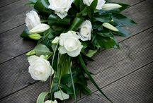 Begravning liggande dekorationer