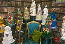 Our wedding cake collection / Sassa's Cakes at the EDP wedding show last weekend.
