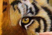 pintura tigre pelagem