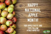 National Apple Month / October is National Apple Month! Follow along as we share apple tips, recipes & history. / by Tree Top