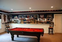 University of Arizona Sports Bar themed Mural / University of Arizona Sports Bar themed Mural by Tom Taylor of Wow Effects. The Bear Down Sports Bar and Grille mural throughout a lower level game room and bar area. The hand painted artwork was done in a home in Mclean, Virginia.