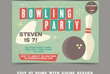 Bowling Birthday Party Collection
