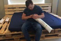 loungehoek / Samen een loungehoek maken met pallets