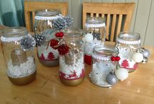 My Xmas candle jars