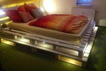 Bett aus Europaletten