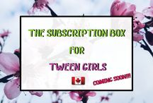 Subscription Box / The Cutesie Subscription package for teens and tweens
