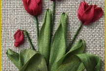 Bunga tulip dari bahan sabun