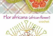Afrikai virág hatszög