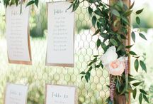 table plans with a floral touch