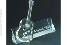 Engraved Crystal Figures & Awards / Engraved Crystal Figurines:  Deep engraved crystal pianos, cellos, violins, guitars, motorcycles, trucks, &  microphones are fantastic gifts when personalized for anyone who enjoys music. / by Personalized Engraved Gifts by ANE Designs