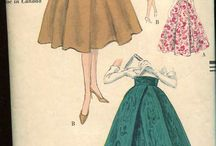 1930's-1950's skirts