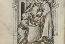 Medieval images and paintings 14th century