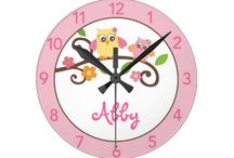 Birds Bugs and Bees Nursery Clocks and Wall Art