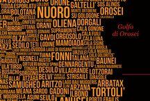 SardiniaAlterNativeMap / Mappa della Sardegna con tutti i nomi dei comuni e delle zone dell'isola