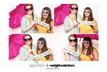 Sprinklr + Weight Watchers #MeetSprinklr / Photo Booth, GIF photo booth, white backdrop, 4 shot 4x6