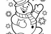 Libro  dibujos  navideños