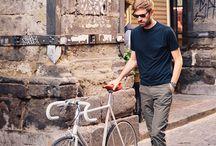men and bicykl