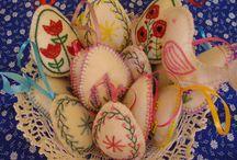 my work - felt easter eggs / felt eggs