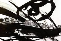 Ink and Collage on paper / Nur Balkir's recent works