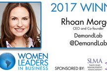 """2017 20 Women To Watch Winners / The Sales Lead Management Association (SLMA) announced the winners of the 2017 """"20 Women to Watch in Business"""" leadership program. SLMA CEO James W. Obermayer said, """"Each year we ask our members to nominate and recognize women leaders in management whom they admire.  These women are CEOs, product managers, strategists and sales managers, authors and consultants, and company presidents. This year's nominees are extraordinary in their accomplishments."""""""
