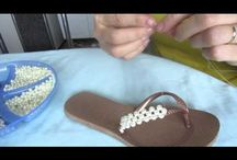 papuci cu perle