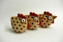 zwierzaki z ceramiki