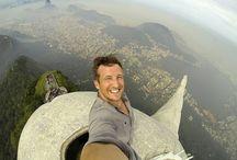 Amazing travel selfies