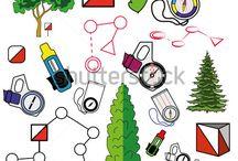 Orienteering moodboard
