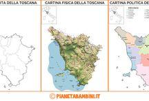 Cartina Muta Toscana