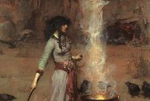 Magic Circle (1886) Изменить описание John William Waterhouse - Magic Circle (1886)