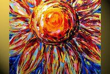 소재-sunflowers