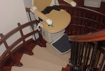 Stair Lifts / Stair Lifts allow access to all levels of the home.  There are straight stairlifts and curved stair lifts.