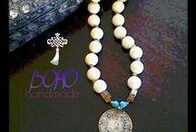 Boho,mala necklace jewlery,tibetan pendent