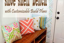 shoe shelf bench ideas