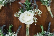 Eco boutonniere / Ecological boutonniere for all the gentlemen in your wedding.