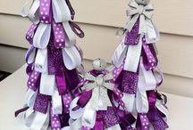 White & Purple Christmas