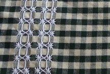 bordado em tec. xadres