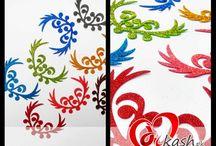 Glitter Fomic Sheet Cutting for Decoration
