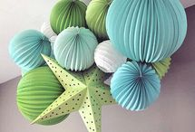Paper Mobiles / decorating with paper