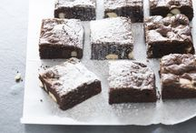 Triple choc brownies