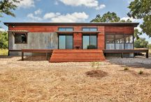 River Run Ranch / 16x40 Modular Unit constructed of Reclaimed Barnwood, Shiplap and Corrugated Tin.