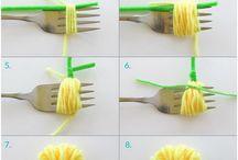 laine et fourchette